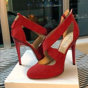 Guess Fire Red Heels!